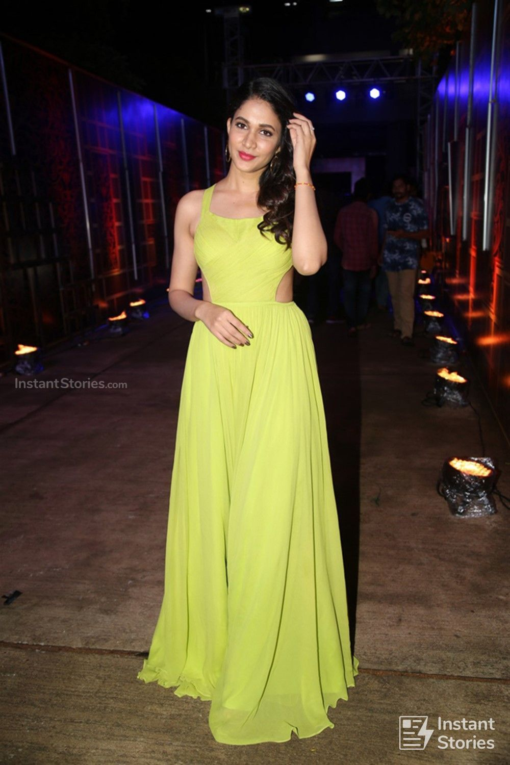 Actress Lavanya Tripathi Pictures in Yellow Sleeveless Dress at Zee Telugu Kutumbam Awards (16225) - Lavanya Tripathi