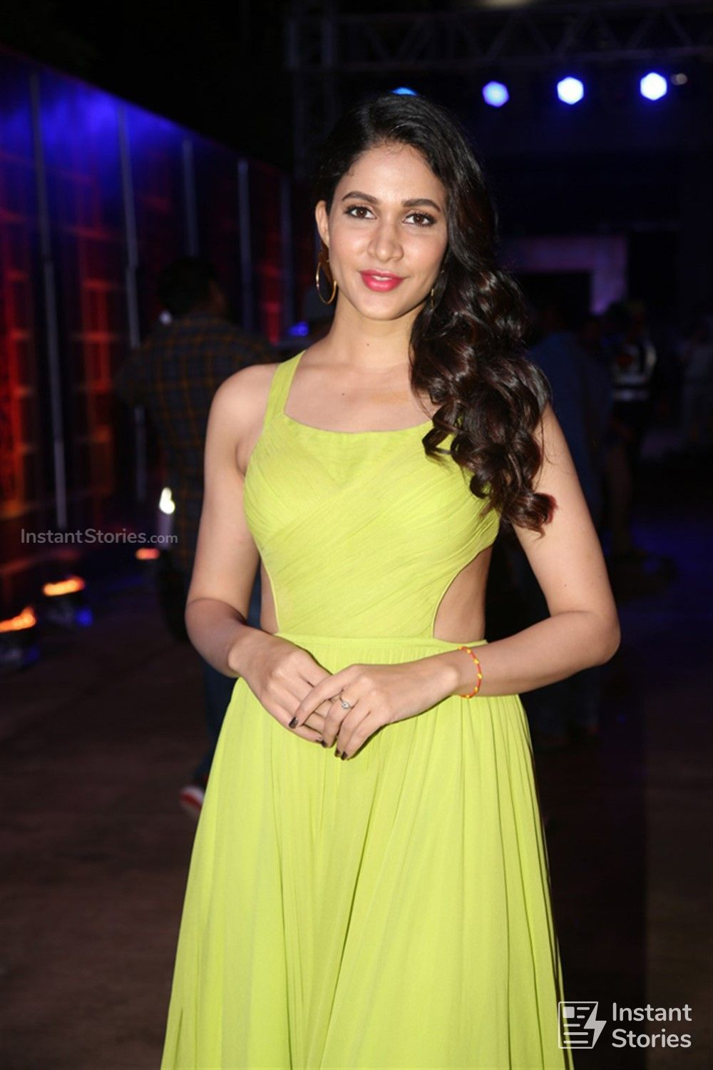 Actress Lavanya Tripathi Pictures in Yellow Sleeveless Dress at Zee Telugu Kutumbam Awards (16224) - Lavanya Tripathi