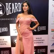 Nabha Natesh Hot Photos in Pink Dress at Dadasaheb Phalke Awards Event